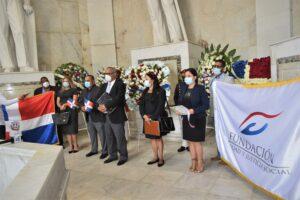 Representantes de FEJUS en el Altar de la Patria